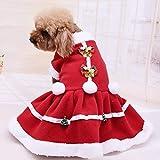 PONNMQ Weihnachtshundekleidung-Haustier-Hundekleid Fest Farbe Weihnachten Mantel-Sweatshirt Weste Haustier Katze Warm Puppy Mäntel Jacken FW3, USA, S