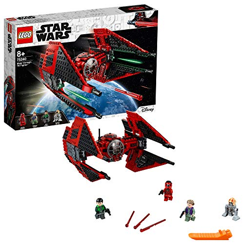 LEGO 75240 Star Wars Major Vonreg's TIE Fighter Starship Set with a Special Black and Red Colour Scheme from Resistance TV Series Best Price and Cheapest
