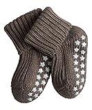 FALKE rutschfeste Cotton Babys Socken Babysocken Catspads - braun, 1 Paar, Noppen (ABS), für Jungen Mädchen, Stoppersocken