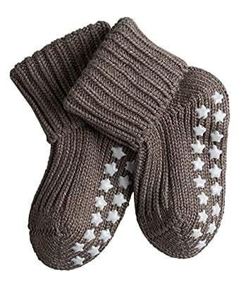 Falke Unisex - Baby Socken Cotton Catspads, Einfarbig, Gr. 62 (Herstellergröße: 62-68), Braun (Pebble 5810)