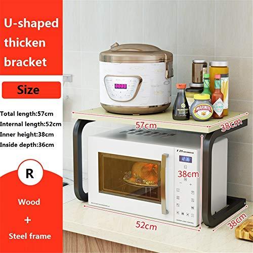 WMLD Küche Regal,mikrowelle,küche Boden Multi-Layer Aroma Lagerung-Rack,Storage Stikkenw