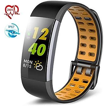 TECKEPIC I7A Montre Connectée Smartwatch Bracelet Connecté Trackers dactivité Podomètre Distance Calories Cardiofréquencemètre iPhone