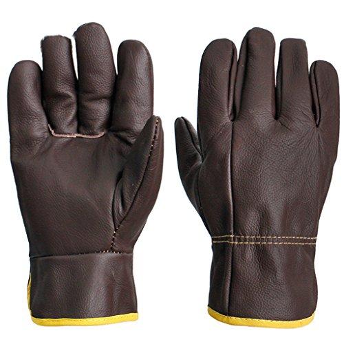 Voll-leder-fahrer-handschuhe (TYX-LJJ Fahrer voll Lederhandschuhe/Leder Schweißer Handschuhe/Abriebfeste Isolierung Schweißen spezielle Handschuhe)
