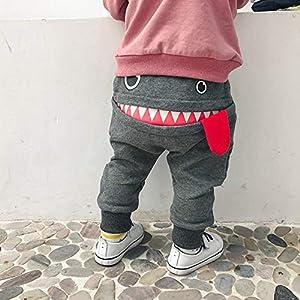 cinnamou Pantalones, Pantalones Estampados Shark Funny Pantalon Corto Pantalones Largos Holgados PantalóN Harem EláSticos para NiñOs NiñAs De 6 Meses A 3 AñOs 12