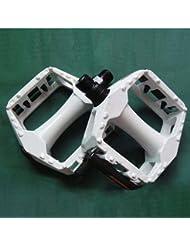 CC * CD equitación accesorios pedal para bicicleta pedal de bicicleta de montaña 2unidades (blanco)