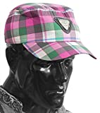 DollsofIndia Multicolor Check Gents Golf Cap - Cotton - Multicolor