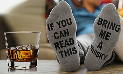 Price comparison product image If You Can Read This Bring Me Beer Wine Whisky Socks Christmas Gift Birthday Present (Bring Me Whisky)