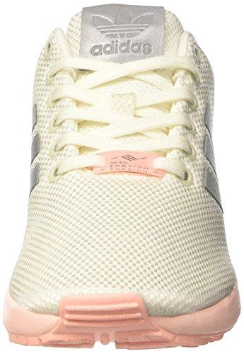 adidas Zx Flux, Scarpe da Ginnastica Basse Donna Bianco (Ft White / Met Silver / Haz Cor)