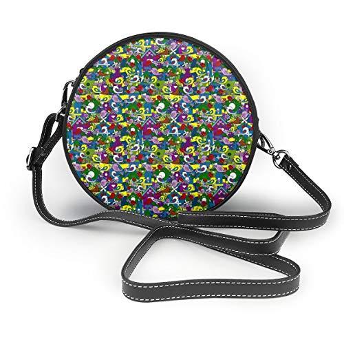 Handbags For Women,A Party Of Birds #3_7766-lworiginals PU Leather Shoulder Bags,Tote Satchel Messenger Bags