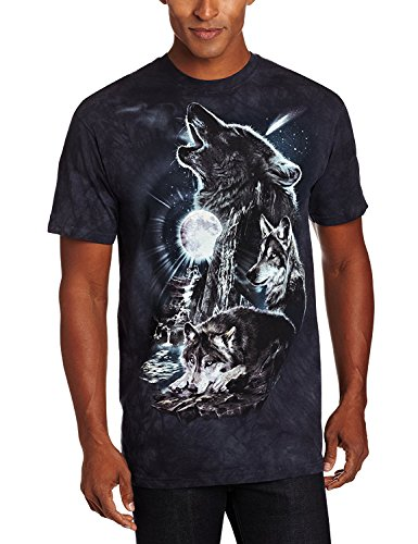 The Mountain Herren T-Shirt Bark at The Moon Short Sleeve - Blau - 3X-Groß -