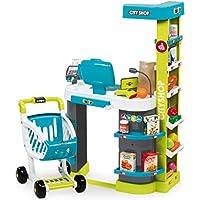 Smoby - 350207 - City Shop - Jeu Lmitation avec Caisse Enregistreuse et Vraie calculette - 42 Accessoires Inclus
