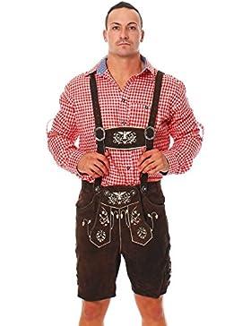 Engelleiter Trachten Herren Hemd Trachtenhemd Kariert Wiesn Oktoberfest