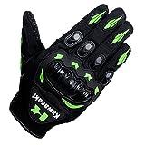 Kawasaki Motorrad-Handschuh, grün, für Motorradrennen, Motocross, MTB, Quad, Fatbike