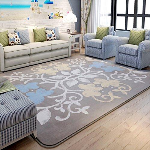 Coral Moderner Teppich (Rutschfeste Teppiche Rutschfeste Teppiche Fußmatte Schlafzimmer Teppich Wohnzimmer Sofa Couchtischdecke im Europäischen Stil Coral Velvet Simple Contemporary Moderner Teppich für Wohnzimmer Schlafzim)