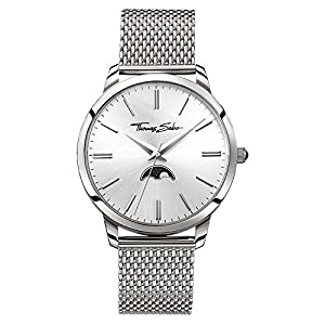 Thomas Sabo Men-Watch Rebel Spirit Moonphase silver Analog Quarz WA0324-201-201-42 mm
