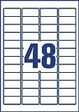 Avery Zweckform L4778REV-20 Wetterfeste Etiketten (A4, 960 Stück, ablösbar, 45,7 x 21,2 mm) 20 Blatt weiß