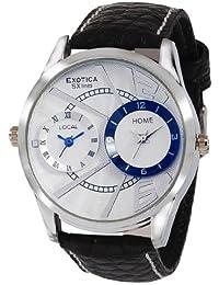 Exotica Analog White Blue Dial Men's Watch (EF-80-Dual-White-Blue)