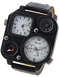 ae6c9e553c64 SJXIN Reloj Elegante Reloj de Hombre Reloj de Moda termómetro brújula Oulm  Dos Lugares