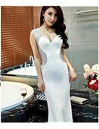 bfc3d1f5ab MOM Vestido de Dama de Honor de Banquete Vestido de Fiesta con Cuentas  Cheongsam de Mujer
