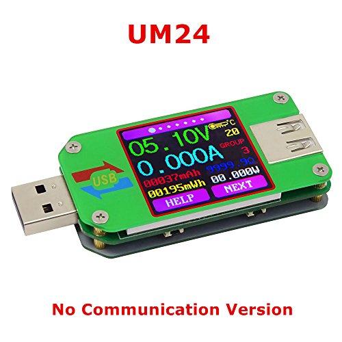 KKmoon USB Spannungs-/Strom Tester【Voltmeter, Amperemeter, Batterie Ladekabel-Impedanz-Messer】Keine Kommunikations-Version