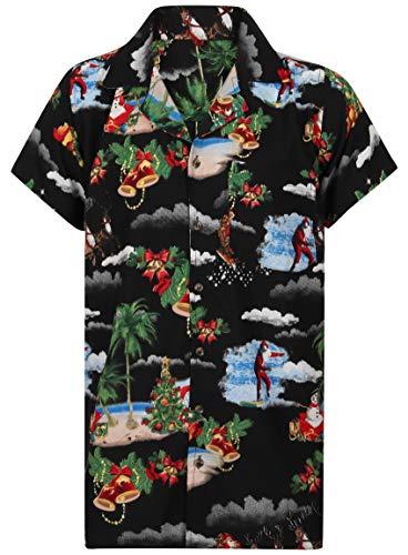 940638e5 OE Menswear Christmas Hawaiian Shirt Mens Santa Loud Hawaii Reindeer Xmas  Tree Party S-4XL