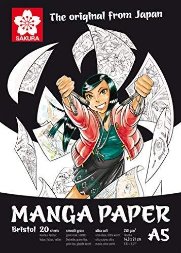 Manga PapersacuraBristol 20 250G/m² A5 20 FOGLIO