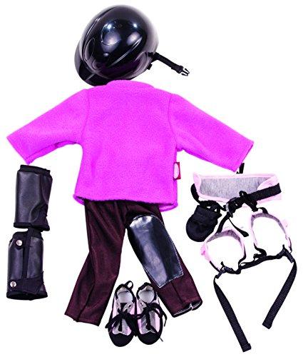 Gtz-3402736-Sports-Puppenset-9-teiliges-Bekleidungsset-fr-Stehpuppen-mit-einer-Gre-von-45-50-cm-bestehend-aus-Fleecehut-Reithose-Reithelm-Gamaschen-Klettergurt-und-Kletterschuhen-geeignet-fr-Kinder-ab
