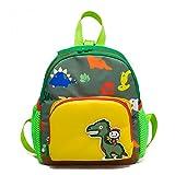 OdeJoy Kinder Karikatur Dinosaurier Muster Rucksack Kleinkind Schuletaschen Reißverschluss Rucksack Gedruckt Backpack Mode Cute Büchertasche Tier Spleißen Students Bags (Grün,1 PC)
