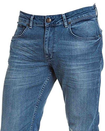 Petrol Industries - hellblau verwaschene Jeans verjüngt künstliche Blau
