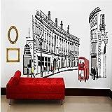 zyyaky Fond D'Écran 3D Fonds D'Écran Trésors Rome London Street View Stickers Muraux Décoratifs Salon Chambre TV Background Girl Room Mural