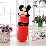 hhjxptst Peluche, Coussin De Lit, Mickey Mouse, Cushions Stitch Doraemo, Sleeping, 90cm Rouge Mickey