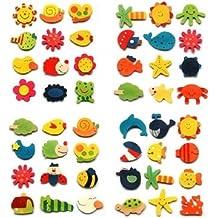 Tanzimarket - De alta calidad de 12 piezas de cocina de la historieta iman de bebé de juguetes educativos de
