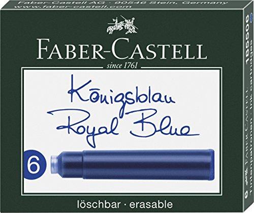 Faber-Castell 185506 - Tintenpatronen Standard, 6 Stück, blau