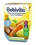 Bebivita Feines Gartengemüse mit zartem Rindfleisch, 4er Pack (4 x 440 g)