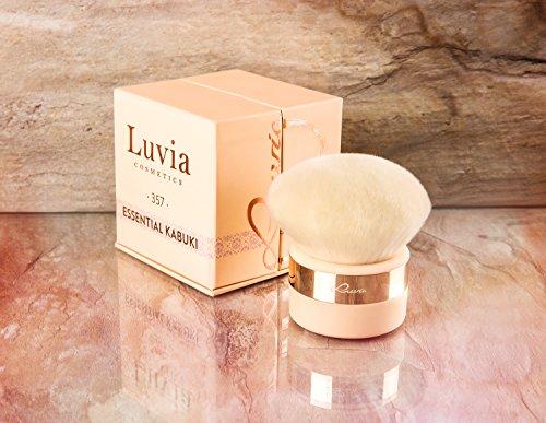 Luvia Kabuki Puder-Pinsel Gesichtspinsel Nude/Roségold - Großer Veganer Make-Up-Brush im luxuriösen Design zum Schminken mit Foundation, Mineal-Make-up, Puder, Blush & Body-Puder - Geschenkidee