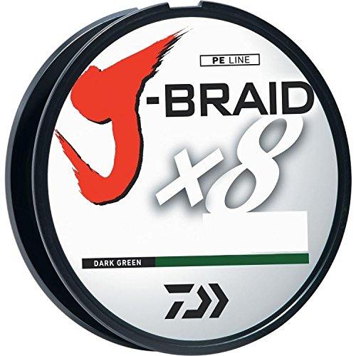 Daiwa J-BRAID 8 Strand geflochtene Schnur 15lb 165yd 150m Low-Vis Dark Green 15-150DG