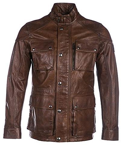 Belstaff Men's Leather Trialmaster Jacket Cognac 38