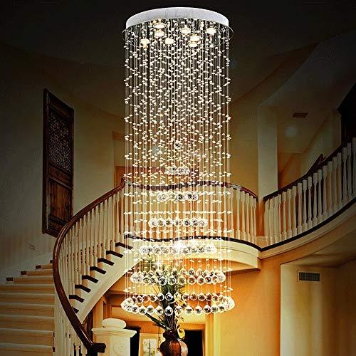 Kristall-Kronleuchter von Luxus-Villa Lampen, Kronleuchter, Treppenhaus, Wohnzimmer, Geschäftszentren, Halle des Hotels Murano (Farbe: 60 x 150 cm) 40 * 100cm -