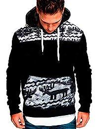 ZIYOU Herren Hoodies Top Sport, Beiläufige Fitness Pullover mit Kapuze/Casual Langarm Trainingsanzüge/Männer Freizeit Muscle Sweatshirt für Herbst Winter