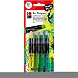 Marabu Creative Art Crayon Set 4/Pkg-Green Jungle - Yellow & Greens