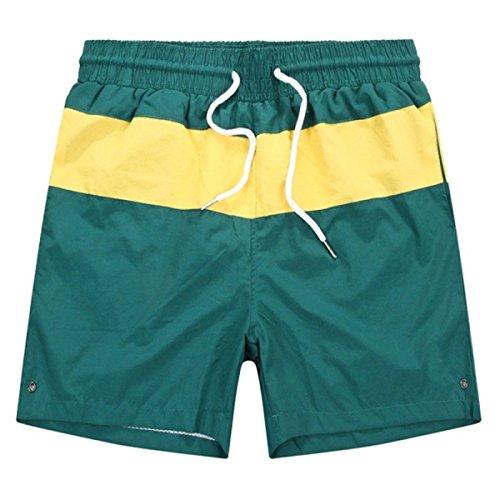 2 Pack Hommes Quick Dry été Plage Sport Frappé Couleur Rayures Swim Trunk Tailles Et Couleurs Assorties D