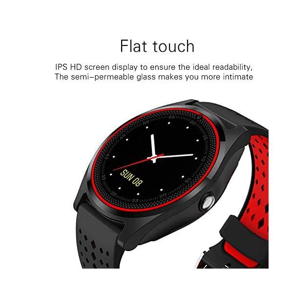 Hanbaili Smartwatch Reloj Inteligente con Ranura de Tarjeta SIM/TF y Cámara, Fitness Tracker, Análisis de Sueño… 4