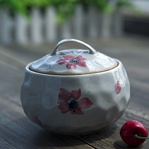MYITIAN Unter Glasur Keramik Gewürz Jar Japanischen Stil handbemalt Ei Cup Süßigkeiten Kanister die Küche Gewürz Jar-D (Ei-kanister)