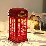 PRIMI Vintage London Telefonzelle USB Ladekabel LED Touch Nachtlicht