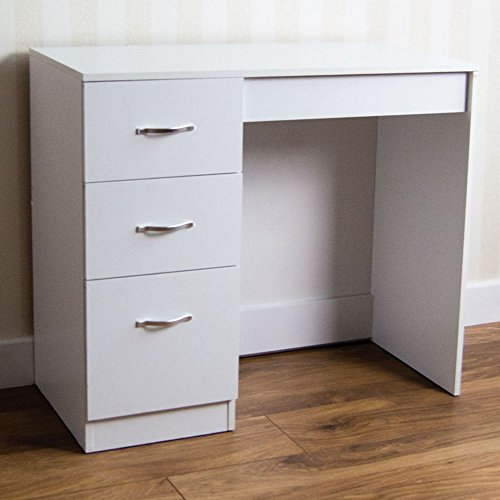 Buy home discount white 3 drawer dressing table makeup for Cheap bedroom drawers