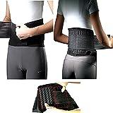 DOBO® supporto lombare con stecche fascia elastica tutore fitness con chiusura in velcro neoprene sollievo mal di schiena trauma lombalgia sciatalgia corsetto