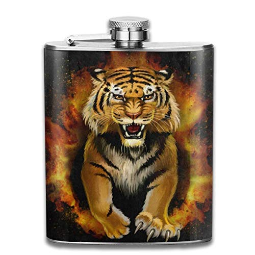 eel Flask Halloween Seamless Pattern Spiders Web Whiskey Flask Vodka Portable Pocket Bottle Camping Wine Bottle 7oz Suitable for Men and Women New3 ()