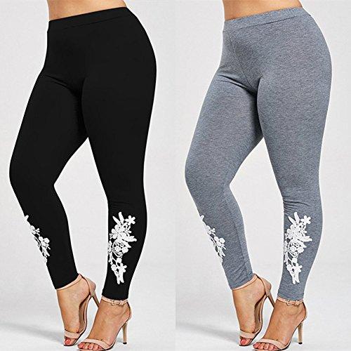 Legging Femme grande taille Pantalons de survêtement Femmes Yoga Pantalon Push Up Collants élastique pantalons Jogging doux confortable Fitness Gymnastique Leggins Hibote Gris