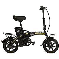 LANKELEISI R9 portátil de 14 Pulgadas Bicicleta eléctrica Plegable, 48V 23.4Ah batería de Litio