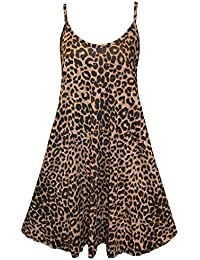 9a2b7cf060f5 CHOCOLATE PICKLE New Womens Plus Size Cami Strappy Plain Tops Long Swing  Dress 8-26